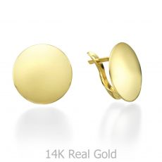 Yellow Gold Hoop Earrings - Orb