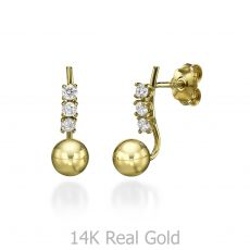 Stud Earring in Yellow Gold - Majestic Ball