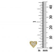 Stud Earring in Yellow Gold - Loving Heart