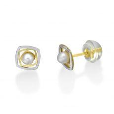 Gold Stud Earrings -  Lucy Pearl
