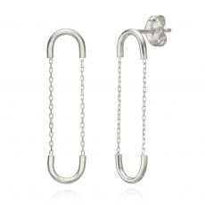 Drop and Dangle Earrings in 14K White Gold - Expander