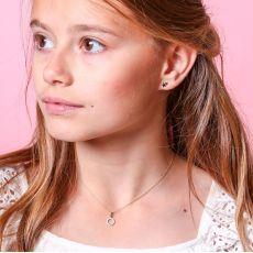Gold Stud Earrings -  Two Stars