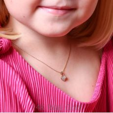 Pendant and Necklace in Yellow Gold - Loving Heart