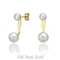 Ear Jacket in 14K Yellow Gold - Ariel & Neptune