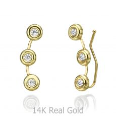 Climbing Earrings in 14K Yellow Gold - Tucana