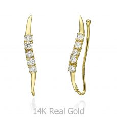 Climbing Earrings in 14K Yellow Gold - Cepheus