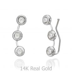 Climbing Earrings in 14K White Gold - Tucana