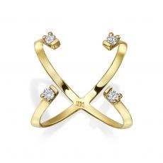 Diamond Ring in 14K Yellow Gold - Aurora