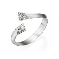 Diamond Ring in 14K White Gold - Aphrodite