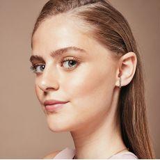 Diamond Cuff Earrings in 14K White Gold - High-Five
