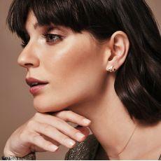 Stud Earrings in 14K White Gold - Flame & Fire