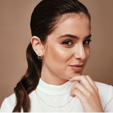 Diamond Stud Earrings in 14K White Gold - Sunrise - Large
