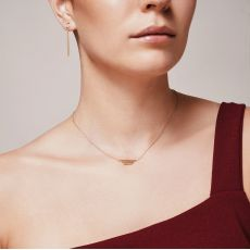 Pendant and Necklace in 14K Yellow Gold - Golden Trio