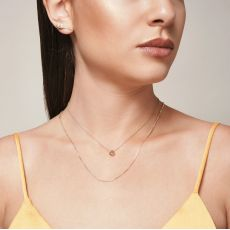Pendant and Necklace in 14K White Gold - Golden Circle
