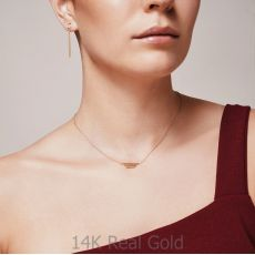 Pendant and Necklace in 14K White Gold - Golden Trio