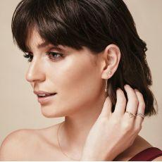 Stud Earrings in 14K White Gold - Golden Point