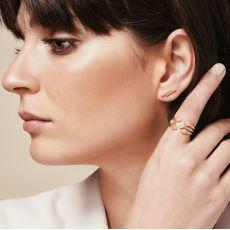 Stud Earrings in 14K White Gold - Golden Brick