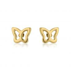 Stud Earrings in 14K Yellow Gold - Flutterby