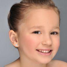 14K White Gold Kid's Stud Earrings - Sparkling Elephant