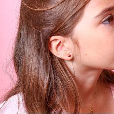 14K Yellow Gold Kid's Stud Earrings - Ladybug