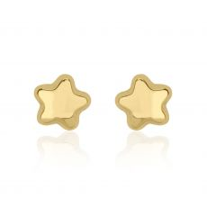 Stud Earrings in 14K Yellow Gold - Shining Star