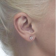 Gold Stud Earrings -  Symphonic Heart