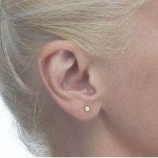 Gold Stud Earrings -  Circles of Splendor
