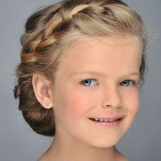 14K Yellow Gold Kid's Stud Earrings - Flower of Iris