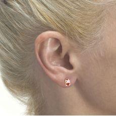14K Yellow Gold Kid's Stud Earrings - Doll of Love