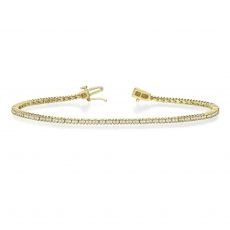 Diamond Tennis Bracelet in 14K Yellow Gold - Elizabeth