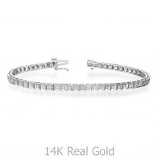 Diamond Tennis Bracelet White Gold – Jennifer