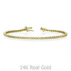Diamond Tennis Bracelet in 14K Yellow Gold - Charlotte