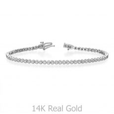 Diamond Tennis Bracelet White Gold – Charlotte