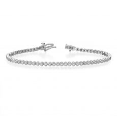 Diamond Tennis Bracelet in 14K White Gold - Charlotte