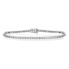 Diamond Tennis Bracelet in 14K White Gold - Kate