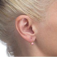 Dangle Earrings in14K Yellow Gold - Torti Tortoise
