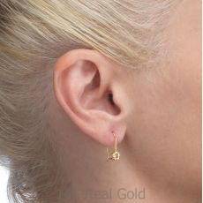 Dangle Earrings in14K Yellow Gold - Hope Flower