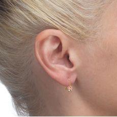 Dangle Earrings in14K Yellow Gold - Gilly Butterfly