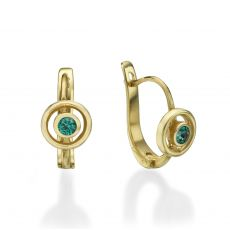 Dangle Tight Earrings in14K Yellow Gold - Circle of Tamara