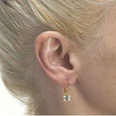 Hoop Earrings in14K Yellow Gold - Beatrice Butterfly