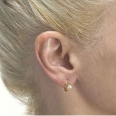 Dangle Tight Earrings in14K Yellow Gold - Heart of Delight