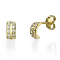 14K Yellow Gold Teen's Stud Earrings - Rihanna