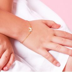 14K Gold Girls' Bracelet - Magic Butterfly