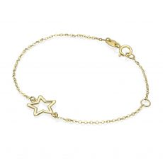 14K Gold Girls' Bracelet - Shining Star