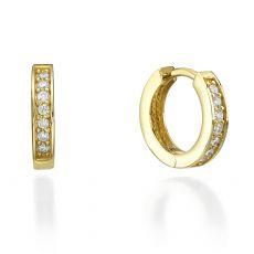 Yellow Gold Hoop Earrings - Montana