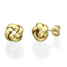 14K Yellow Gold Women's Earrings - Golden Twist