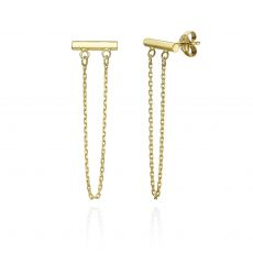 Drop and Dangle Earrings in 14K Yellow Gold - Golden Reins