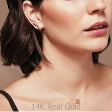 14K White Gold Women's Earrings - Golden Triangle