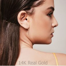 Drop and Dangle Earrings in 14K White Gold - Golden Tubes