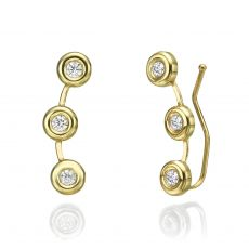 14K Yellow Gold Women's Earrings - Tucana